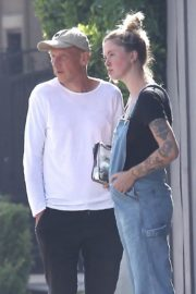 Ireland Baldwin in Denim Overalls Out in West Hollywood 2020/06/20 8