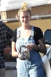 Ireland Baldwin in Denim Overalls Out in West Hollywood 2020/06/20 10