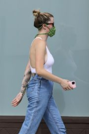 Ireland Baldwin in White Tank Top with Denims During Join Protests in Hollywood 2020/06/02 3