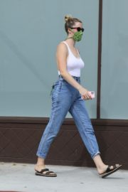 Ireland Baldwin in White Tank Top with Denims During Join Protests in Hollywood 2020/06/02 5