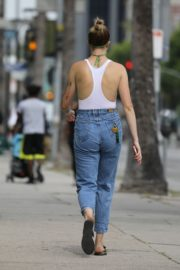 Ireland Baldwin in White Tank Top with Denims During Join Protests in Hollywood 2020/06/02 7