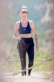 Ireland Baldwin Out Hiking in Los Angeles 2020/06/09 9