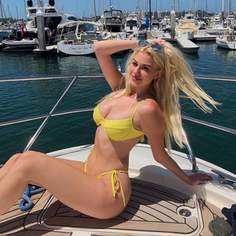 Jackie R. Jacobson in a Yellow Bikini at a Boat Photos Shared in Instagram 2020/06/14 1