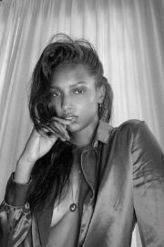 Jasmine Tookes at a Black and White Photoshoot 2020/05/08 1