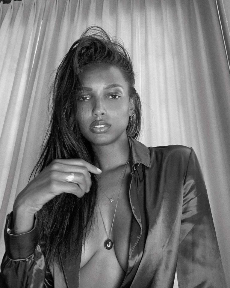 Jasmine Tookes at a Black and White Photoshoot 2020/05/08 2
