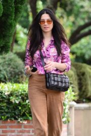 Jessica Gomes in Floral Purple Shirt Out and About in Los Angeles 2020/06/02 5