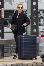 Jodie Comer seen in Black Jacket with Tights at a Train Station in Liverpool 2020/05/31 2