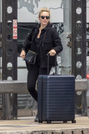 Jodie Comer seen in Black Jacket with Tights at a Train Station in Liverpool 2020/05/31 3