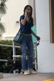 Jordana Brewster in Ripped Denim Out in Brentwood 2020/06/06 3