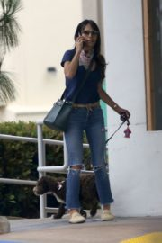 Jordana Brewster in Ripped Denim Out in Brentwood 2020/06/06 4