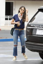 Jordana Brewster in Ripped Denim Out in Brentwood 2020/06/06 8
