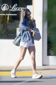 Jordana Brewster in Shorts Out in Los Angeles 2020/06/13 3