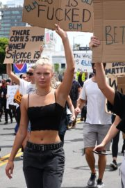 Josie Canseco at Black Lives Matter Protest in Los Angeles 2020/06/02 4