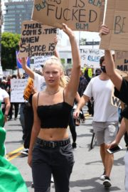 Josie Canseco at Black Lives Matter Protest in Los Angeles 2020/06/02 5