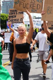 Josie Canseco Out Protesting in West Hollywood 2020/06/03 7