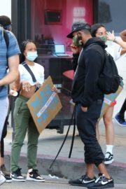 Karrueche Tran at Black Lives Matter Protest in Los Angeles 2020/06/07 8