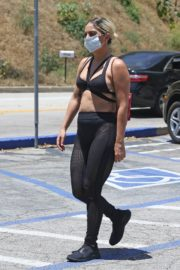 Lady Gaga in a Bikini Top Out for Coffee in Hollywood 2020/05/30 2