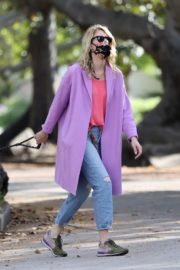 Laura Dern Out with Her Dog in Pacific Palisades 2020/06/02 2