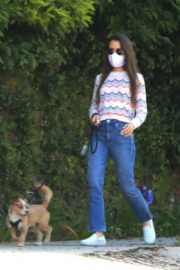 Lily Collins Out with Her Dog in Beverly Hills 2020/06/06 1