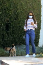 Lily Collins Out with Her Dog in Beverly Hills 2020/06/06 2