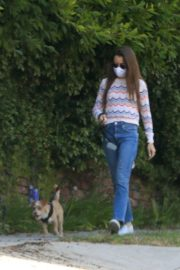 Lily Collins Out with Her Dog in Beverly Hills 2020/06/06 3