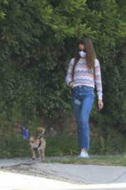 Lily Collins Out with Her Dog in Beverly Hills 2020/06/06 4