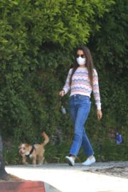 Lily Collins Out with Her Dog in Beverly Hills 2020/06/06 5