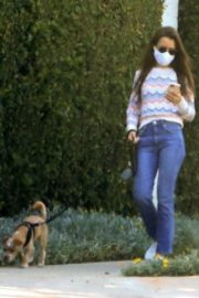 Lily Collins Out with Her Dog in Beverly Hills 2020/06/06 6