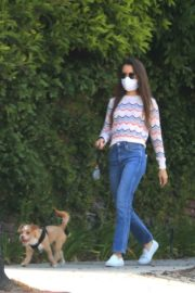 Lily Collins Out with Her Dog in Beverly Hills 2020/06/06 7