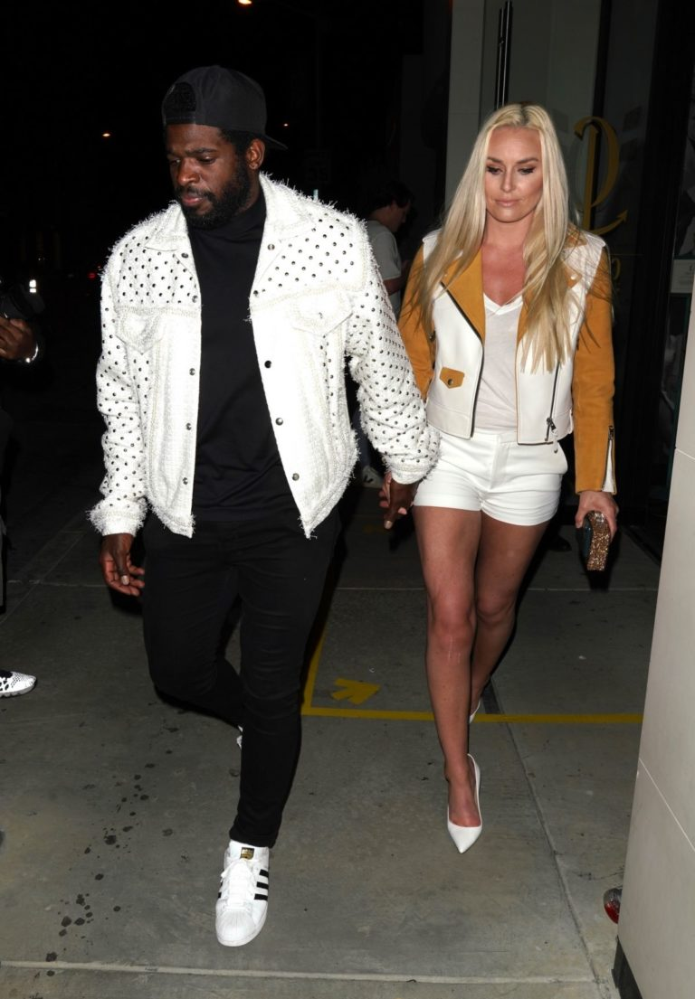 Lindsey Vonn and P. K. Subban Out for Dinner at Catch LA in West Hollywood 2020/06/13 10