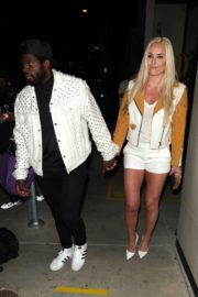 Lindsey Vonn and P. K. Subban Out for Dinner at Catch LA in West Hollywood 2020/06/13 11