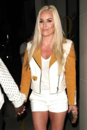 Lindsey Vonn and P. K. Subban Out for Dinner at Catch LA in West Hollywood 2020/06/13 12