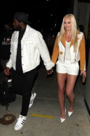 Lindsey Vonn and P. K. Subban Out for Dinner at Catch LA in West Hollywood 2020/06/13 13