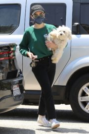 Lucy Hale and her Puppy Elvis at a Dog Park in Studio City 2020/06/04 3
