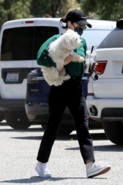 Lucy Hale and her Puppy Elvis at a Dog Park in Studio City 2020/06/04 5