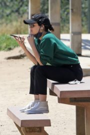 Lucy Hale and her Puppy Elvis at a Dog Park in Studio City 2020/06/04 8