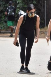 Lucy Hale seen in Black Tights Out Hiking in Studio City 06/02/2020 5