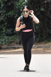 Lucy Hale seen in Black Tights Out Hiking in Studio City 06/02/2020 6