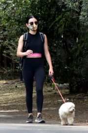 Lucy Hale seen in Black Tights Out Hiking in Studio City 06/02/2020 12