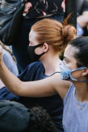Madelaine Petsch and Camila Mendes at Black Lives Matter Protest in Los Angeles 2020/06/03 2