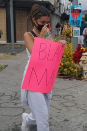 Madison Beer Out Black Lives Matter Protesting in Los Angeles 2020/06/05 16