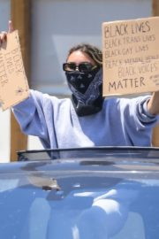 Madison Beer Out Black Lives Matter Protesting in Malibu 2020/06/03 5