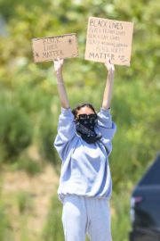 Madison Beer Out Black Lives Matter Protesting in Malibu 2020/06/03 6