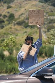 Madison Beer Out Black Lives Matter Protesting in Malibu 2020/06/03 9