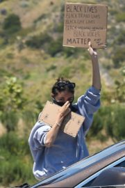 Madison Beer Out Black Lives Matter Protesting in Malibu 2020/06/03 10