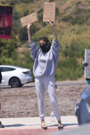 Madison Beer Out Black Lives Matter Protesting in Malibu 2020/06/03 12
