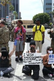 Madison Beer Out Black Lives Matter Protesting on Road in Los Angeles 2020/06/02 3
