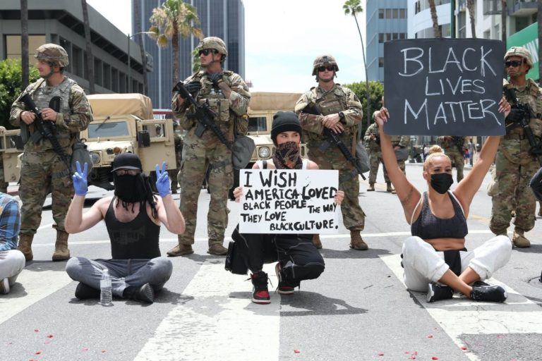 Madison Beer Out Black Lives Matter Protesting on Road in Los Angeles 2020/06/02 4