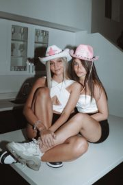 Mads Lewis and Nessa Barrett at a Photoshoot, June 2020 5
