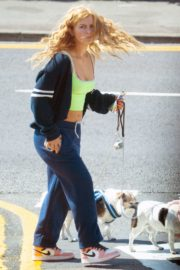 Maisie Smith Out with Her Dogs in Essex 06/01/2020 2